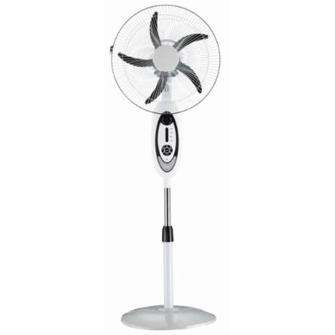 """TPro 52"""" Rechargeable Oscillating Standing Fan with LED Light"""
