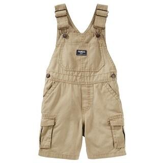 OshKosh B'gosh Baby Boys' Cargo Shortalls, Khaki, 6 Months