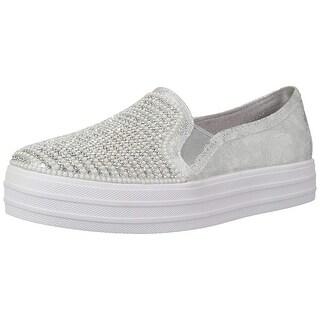 Skechers Kids' Double Up-Shiny Dancer Sneaker,Silver,2 Medium Us Little Kid
