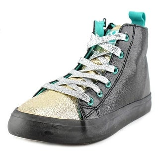 Chooze Spark High Top Youth Round Toe Synthetic Black Sneakers