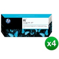 HP 91 775-ml Light Gray DesignJet Pigment Ink Cartridge (C9466A) (4-Pack)