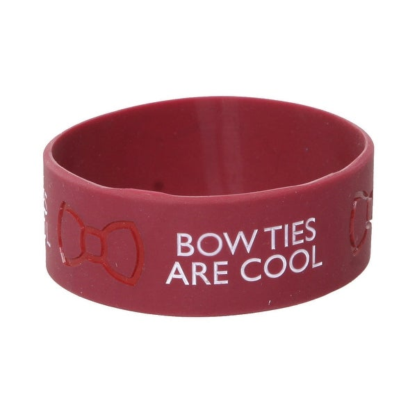 Doctor Who Rubber Wristband: Bow Ties Are Cool - multi
