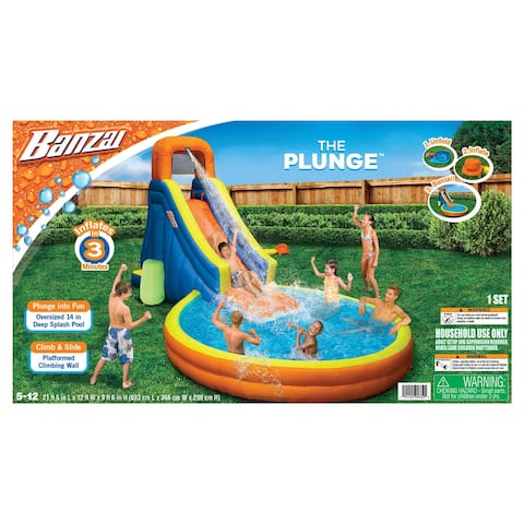 The Plunge Water Park Slide/Pool - Orange