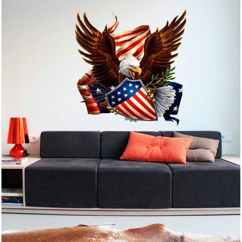 Bald Eagle US Symbol Decal, Bald Eagle US Symbol Sticker, Bald Eagle US Symbol Wall Decor