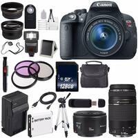 Canon EOS Rebel T5i 18 MP CMOS Digital SLR Camera(International Model) + EF 75-300mm f/4-5.6 III USM Lens Bundle