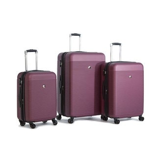 Delsey Panorama 3 Piece Expandable Set, Orchid
