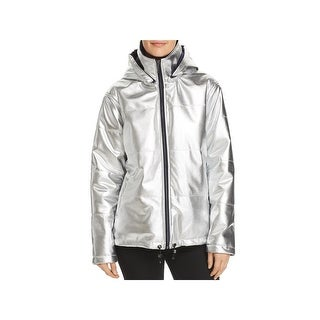Kenneth Cole New York Womens Puffer Jacket Winter Metallic