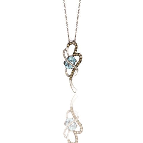 Encore by Le Vian Aquamarine & Diamond 14K White Gold Pendant