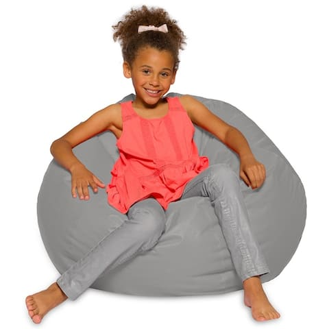 Kids Bean Bag Chair, Big Comfy Chair - Machine Washable Cover