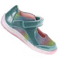 Laura Ashley Girls Toddler Shoes, Blue Multi, 6  M Us