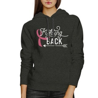 Fighting Back Arrow Dark Grey Hoodie For October Cancer Awareness