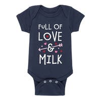 Love And Milk  - Valentine Love Infant One Piece