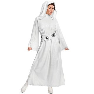 Rubies Princess Leia Hooded Dress Adult Costume - White