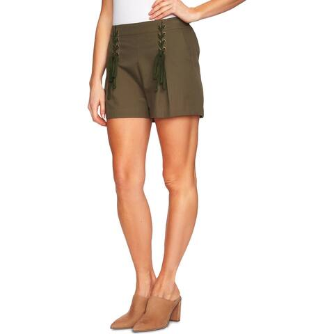 1.State Womens Shorts High-Waist Lace-Up