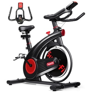 Link to SuperFit Stationary Exercise Bike Silent Belt Drive Cycling Bike Similar Items in Cardio Equipment