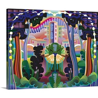 Charles Harker Premium Thick-Wrap Canvas entitled Fantasy Forest and Buildings Landscape