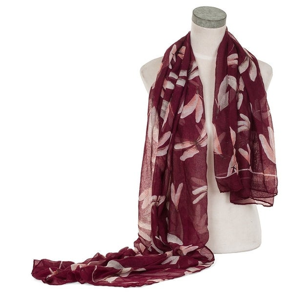 Elegant Women Dragon Fly Print Soft Long Scarf Wrap Shawl. Opens flyout.