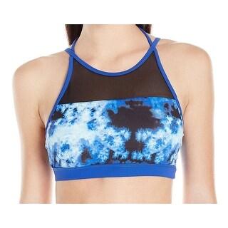 SHAPE NEW Blue Tie-Dye Mesh Workout Small S Sports Bras Bra Tops
