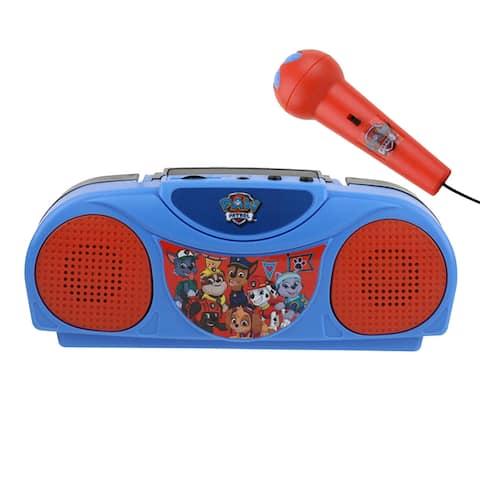 Paw Patrol Portable Radio Karaoke with Microphone
