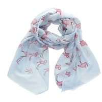 CTM® Women's Flamingo Print Scarf - One size