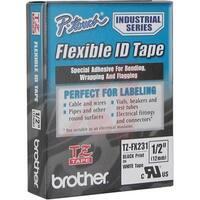 "Brother International  0.47"" Black on White Flexible ID Tape"