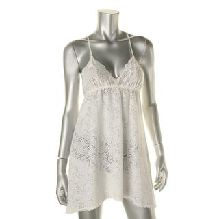 In Bloom by Jonquil Womens Burnout Lace Trim Chemise - S
