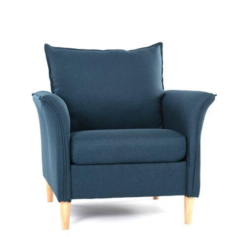 SMUGDESK Wooden Legs, Living Room Chair, Modern Fabric Chair, Single Sofa