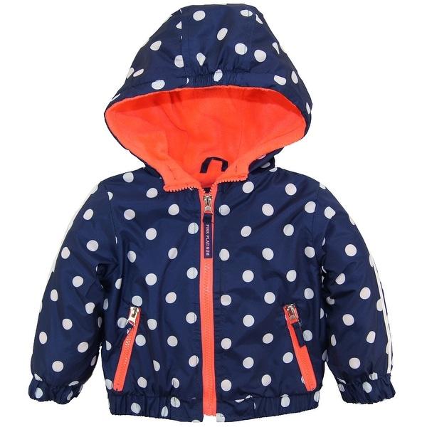 db74393e4694 Shop Pink Platinum Baby Girls Infant Polka Dot Active Hooded Jacket ...