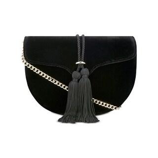 Nine West Womens Gyda Saddle Handbag Tassel Crossbody - small