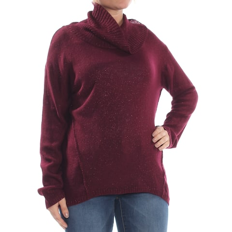 BCX Womens Purple Long Sleeve Sweater Size: L
