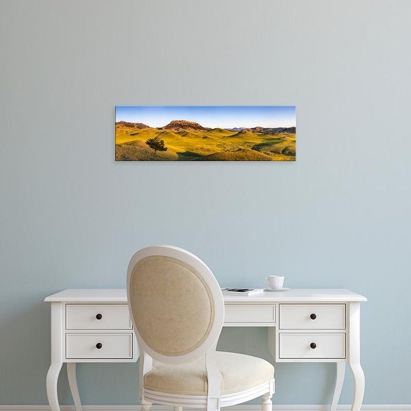 Easy Art Prints Chuck Haney's 'Panoramic Of The Bears Paw Mountains' Premium Canvas Art