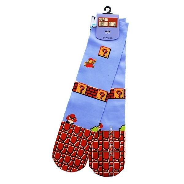 Super Mario Bros Nintendo Tube Socks - Blue