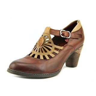 L'Artiste by Spring Step April Women Round Toe Leather Brown Mary Janes