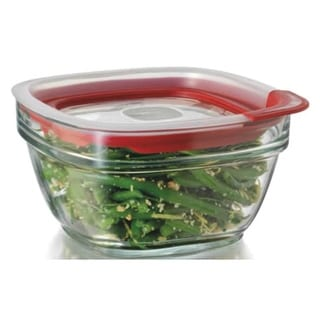 Rubbermaid 2856004 Glass Food Storage Container, 4 cup, Square