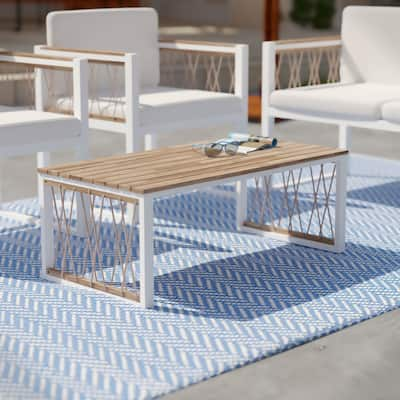 Havenside Home Wilsey Contemporary Natural Wood Cocktail Table