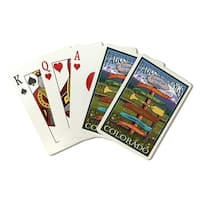 Pagosa Springs CO - Destination Sign - LP Artwork (Poker Playing Cards Deck)
