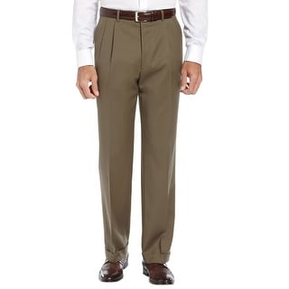 Ralph Lauren Total Comfort Double Pleated Dress Pants Olive Solid 40W x 30L - 40