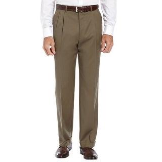 Ralph Lauren Total Comfort Pleated Front Dress Pants Olive 33 x 30
