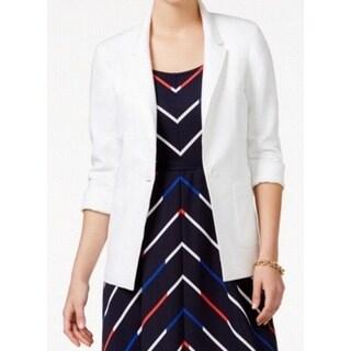 Tommy Hilfiger NEW White Single Button Women's Size 4 Basic Jacket