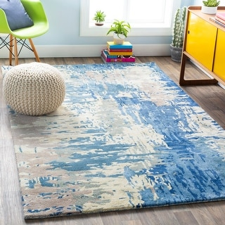 The Curated Nomad Baden Hand-tufted Abstract New Zealand Wool Area Rug