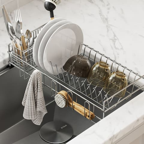 KRAUS Workstation Kitchen Sink Dish Drying Rack Drainer Utensil Holder