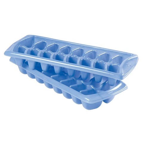 Rubbermaid 2879-RD-PERI Plastic Ice Cube Trays, Periwinkle Blue, 2Pcs/Pk