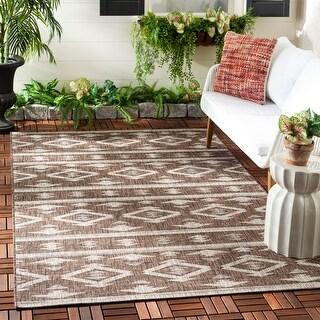 Safavieh Courtyard Jerri Boho Moroccan Indoor/ Outdoor Rug