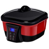 Gymax 8 in 1 Multi Cooker 5.3 Quart Programmable Non-Stick Slow Cooker Pot LCD Display
