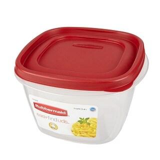 Rubbermaid Easy Find Food Storage, 7 Cup (Pack 6) - Red