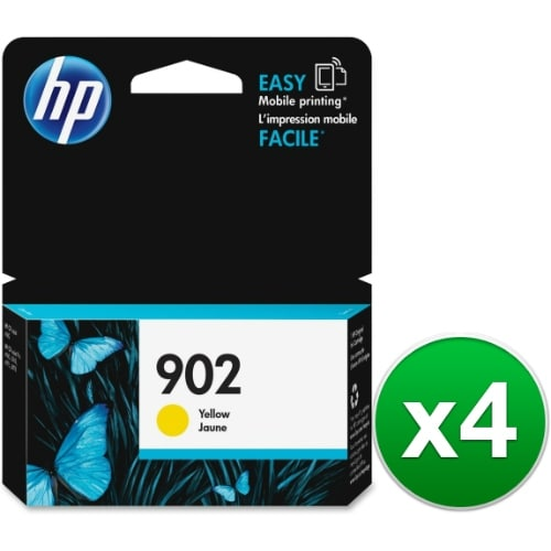 HP 902 Yellow Original Ink Cartridge (T6L94AN) (4-Pack)
