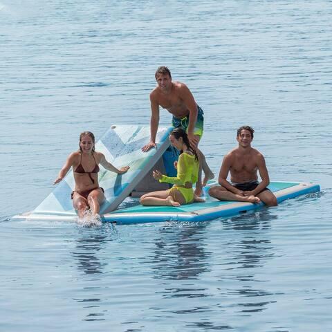 Solstice Convertible Slide 10'x8' Inflatable Dock - Blue
