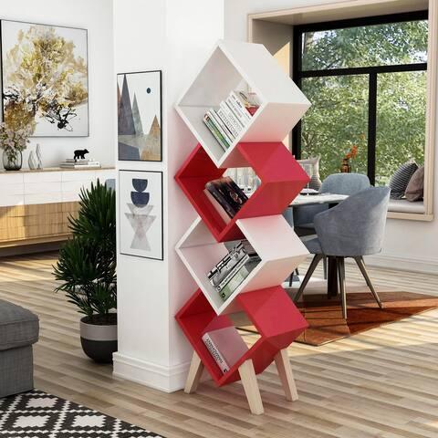 Furniture of America Diamonte Modern 4-shelf Bookcase