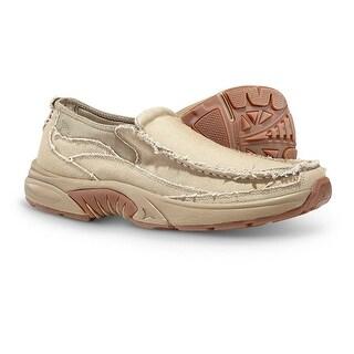 Rugged Shark Men's Annapolis 3 Slip-on Boat Shoes - Khaki