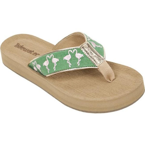 f338e2810e12 Shop Tidewater Sandals Women s Seabrook Flamingo Flip Flop Green Pink -  Free Shipping On Orders Over  45 - Overstock - 15060430